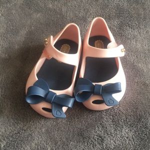 Mini Melissa pale pink Mary Janes size 5